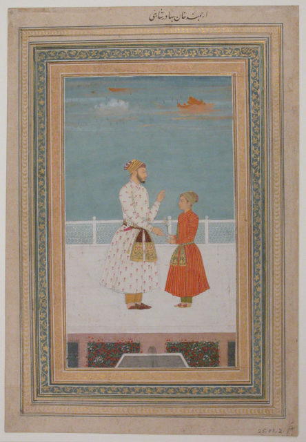 An Officer of Bahadur Shah and a Page