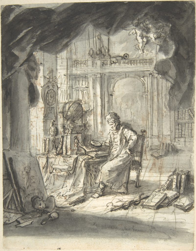 An Oriental Astronomer in His Study