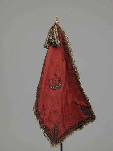 Banner with staff