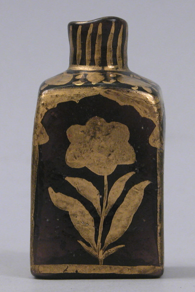 Bottle with Gilded Flowers