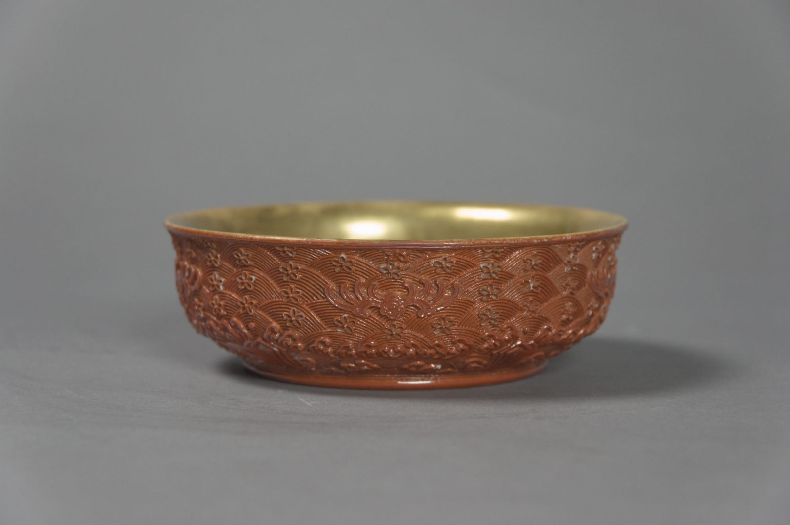 Bowl Imitating Carved Lacquer