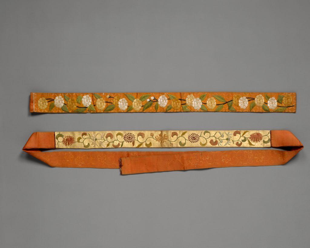 Brow of a Noh Wig Band (Kazura-obi)