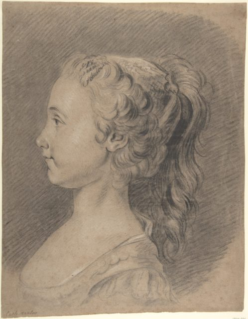 Bust of a Young Girl, Profile to Left