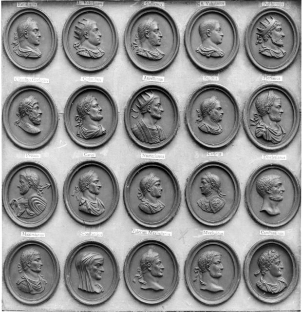 Cabinet of 140 plaques
