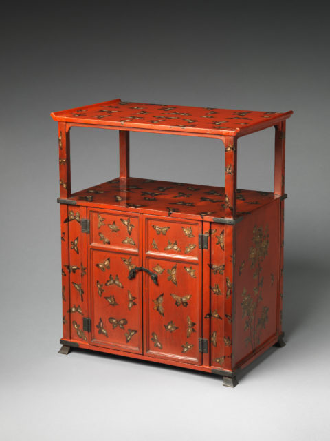 Cabinet with Design of Butterflies