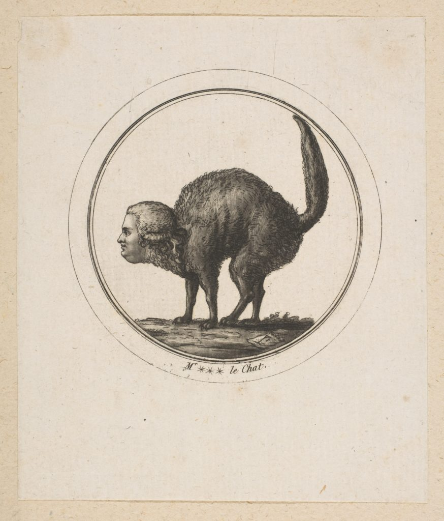 Caricature Showing the Comte de Provence as a Cat