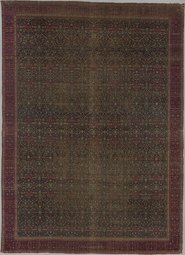 Carpet with a millefleur pattern
