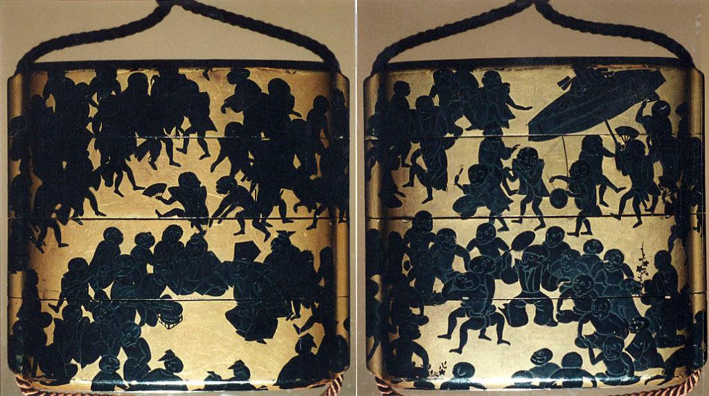 Case (Inrō) with Design of Monkeys' Festival