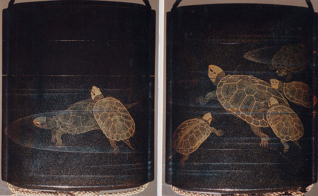 Case (Inrō) with Design of Tortoises Swimming