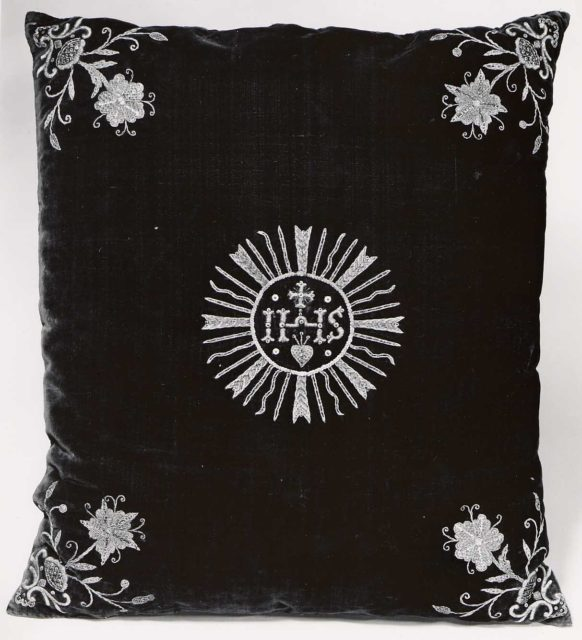 Chalice Veil Made into a Cushion
