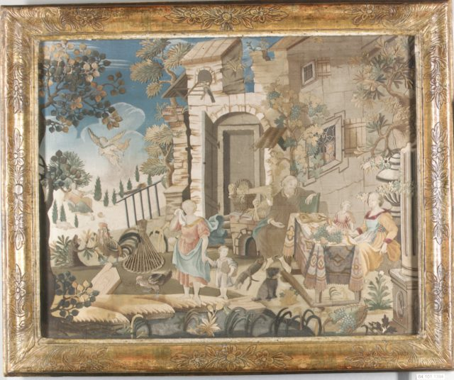 Collage picture with scenes from the Story of Abraham