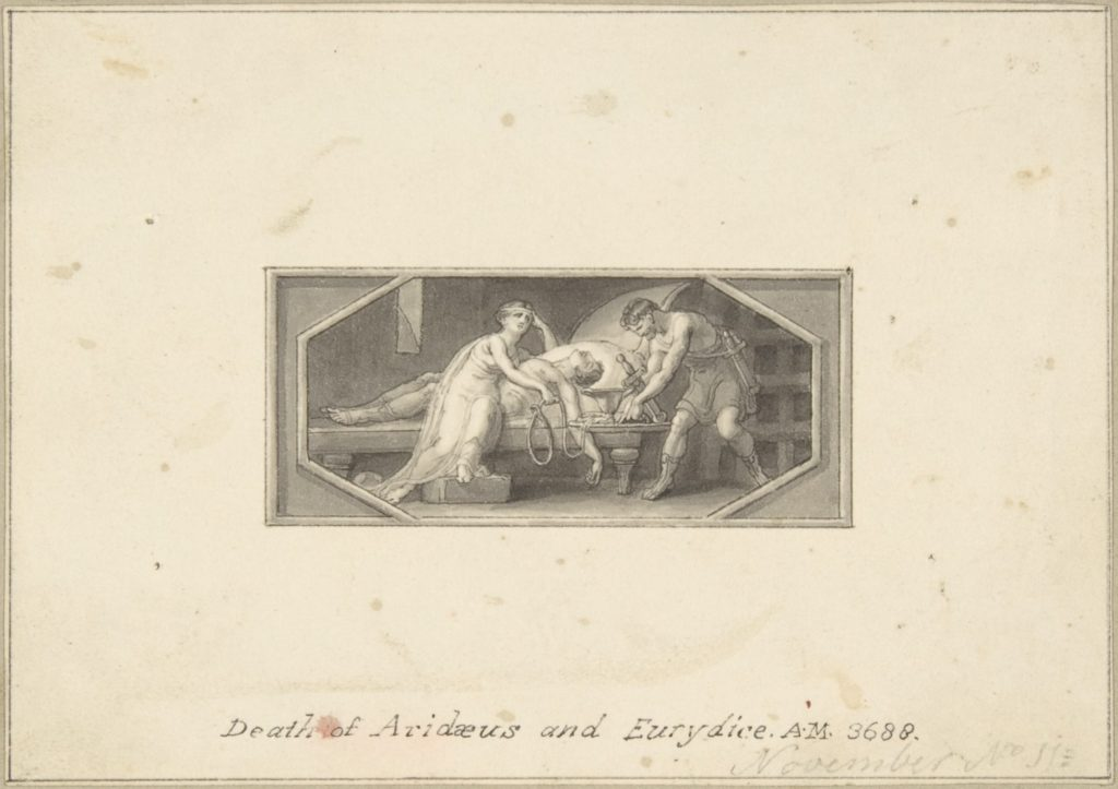 Death of Aridaeus and Eurydice