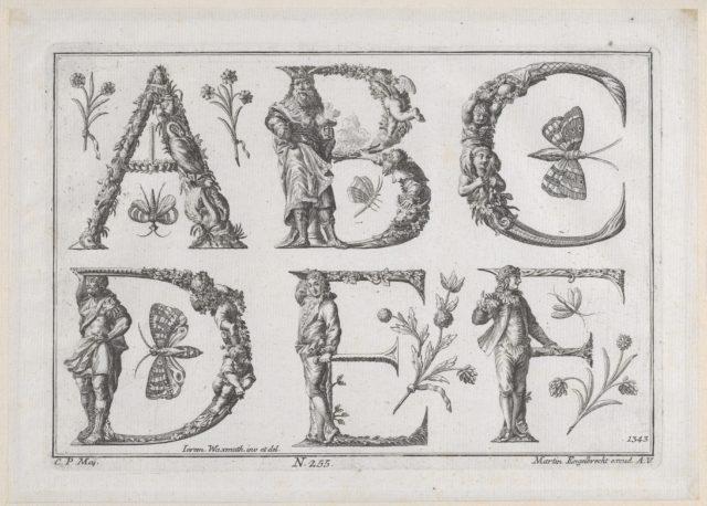 Decorated Roman alphabet