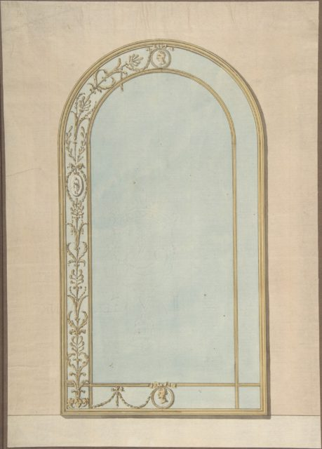 Design for a a Mirror with a Rounded Top