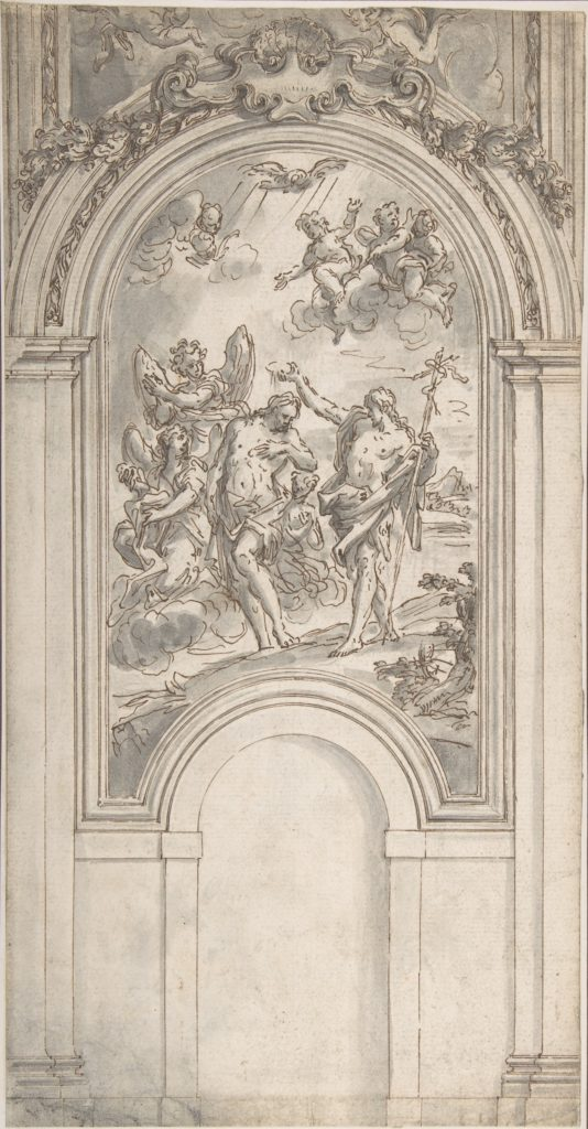 Design for a Baptism of Christ in an Architectural Setting