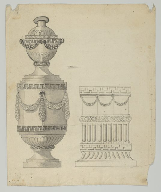 Design for a container and a base