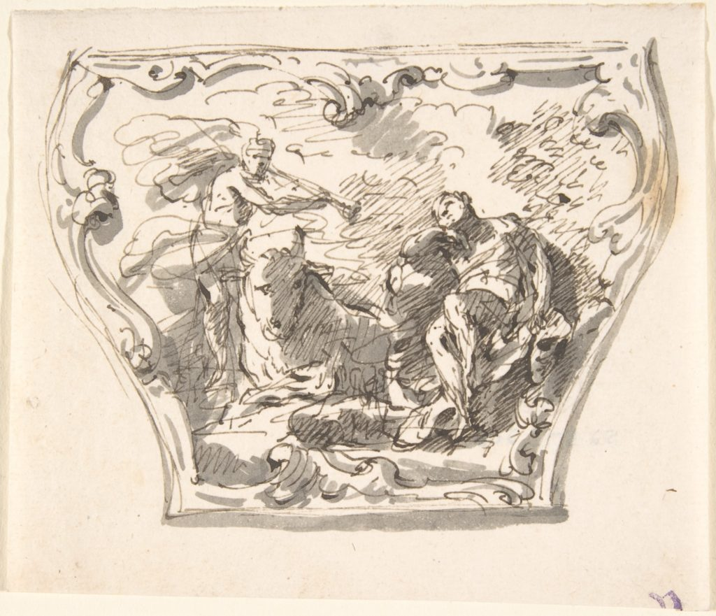 Design for a Decorated Panel of a Carriage