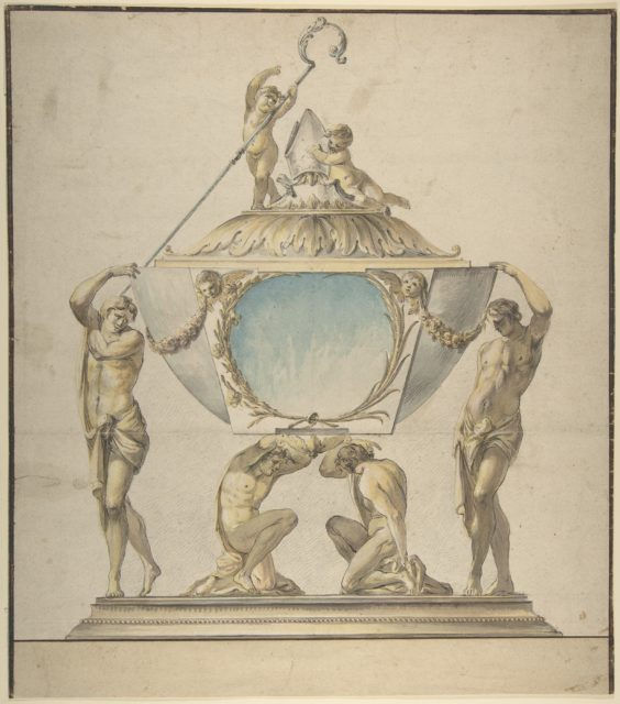 Design for a Gold and Silver Bishop's Reliquary