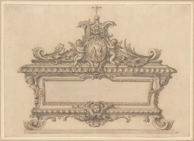 Design for a Reliquary with the Beheading of a Saint
