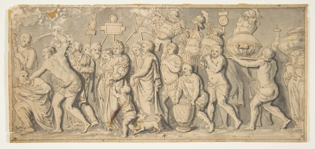 Design for a Roman Procession