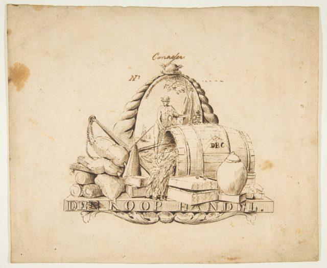 Design for a seal for 'Commerce': Den Koop Handel