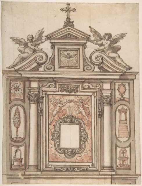 Design for a Tomb, with Ducal Crown at the Center