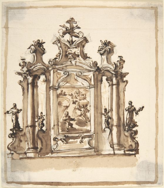 Design for an Altar with the Annunciation in the Central Panel
