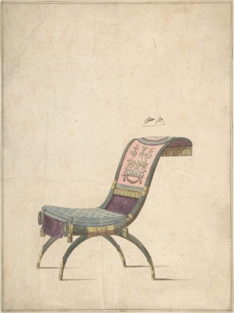 Design for an Empire Chair