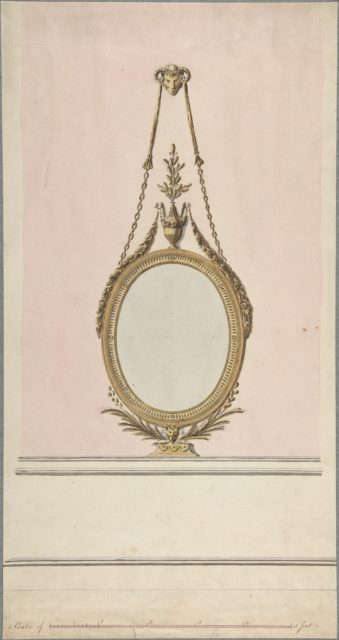 Design for an Oval Mirror