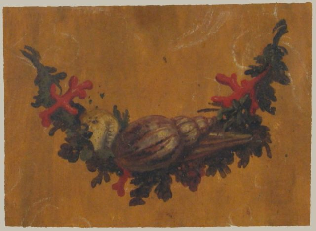 Design for Garland with Shells