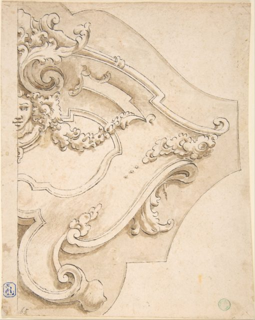 Design for Half Cartouche with Mask