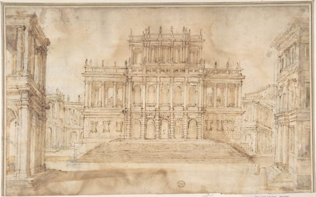 Design for Stage Set with Porticoed Palazzo