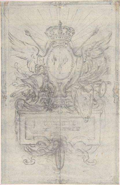 "Design for the Headpiece of the ""Gazette de France"""