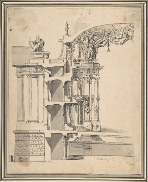 Design for the Proscenium Arch of an Opera house and the Section Adjacent to the Stage