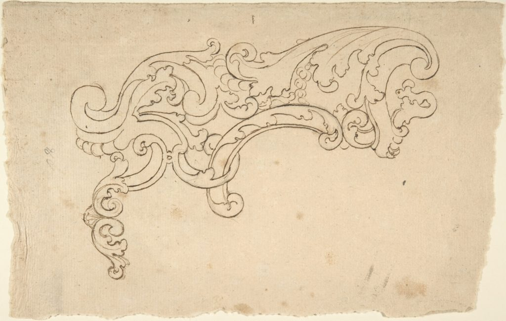 Design of Scroll (Part of a Cartouche ?).
