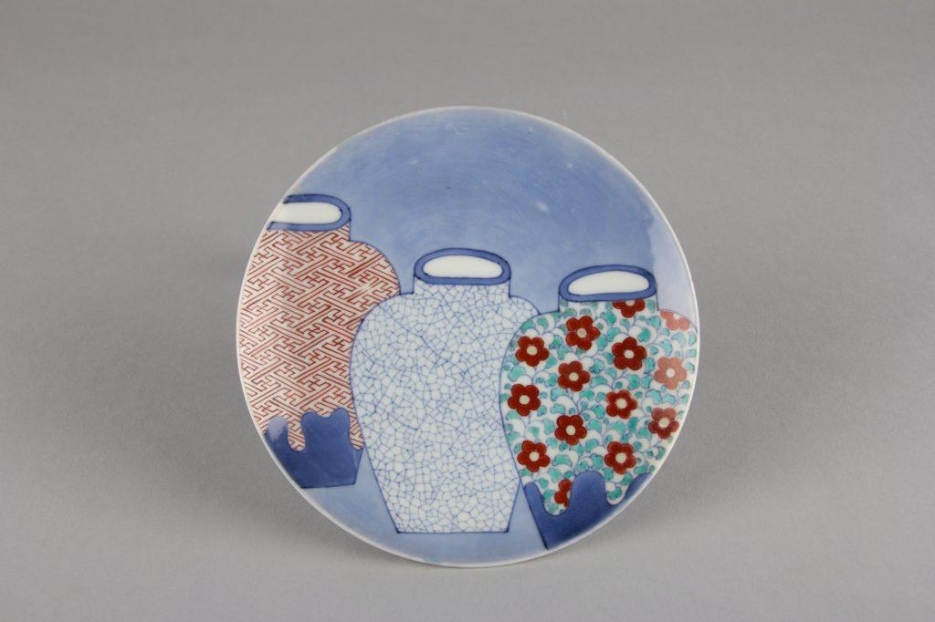 Dish with Design of Three Jars
