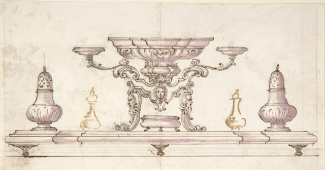 Drawing for Centerpiece and Salt Cellars
