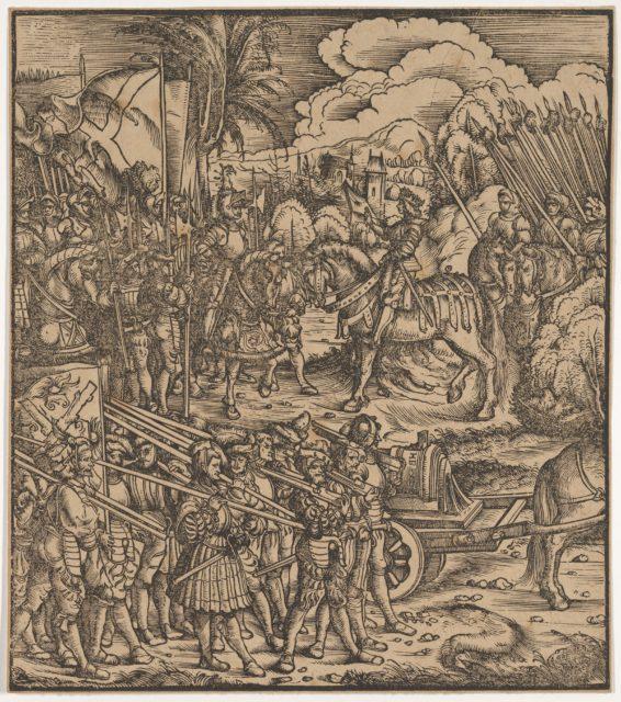 Encounter of Two Generals Before Cleves, from Der Weisskunig