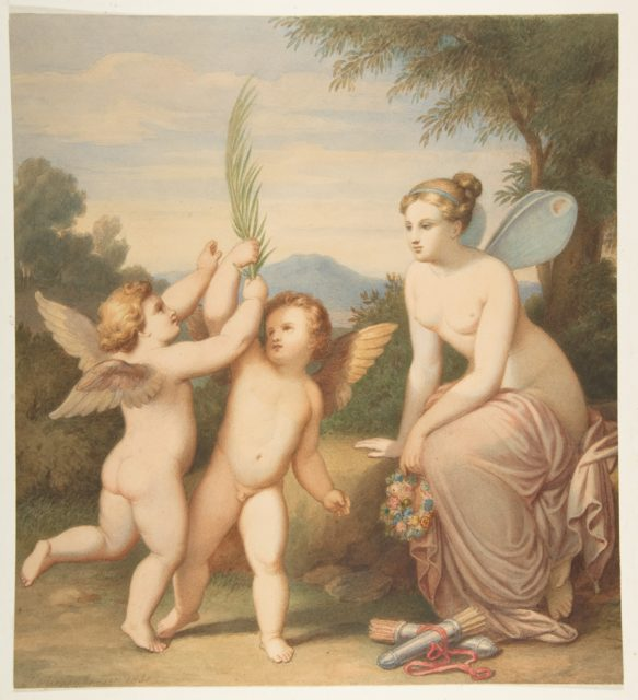 Eros and Anteros with Psyche Looking at Them