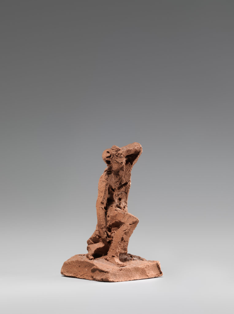 Figural study of a man kneeling