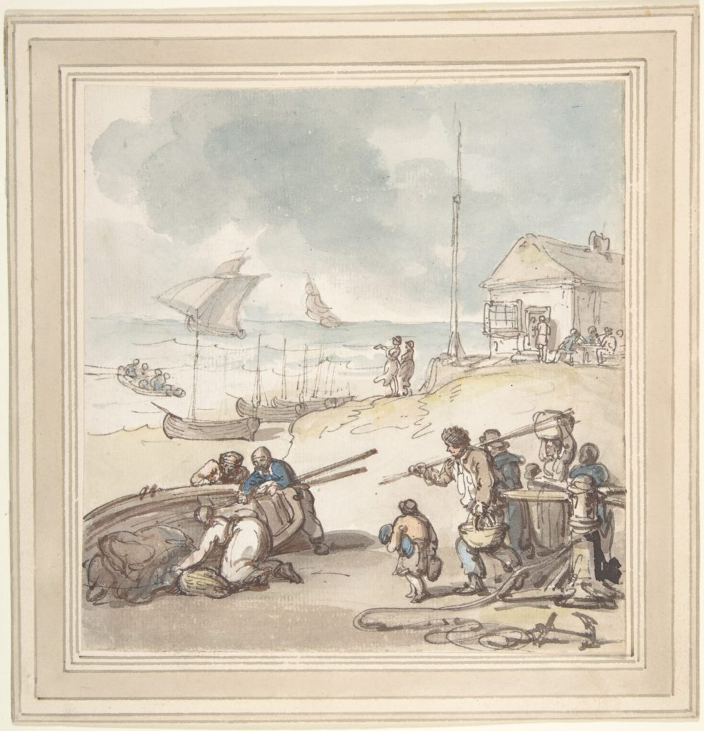 Figures by the Seashore