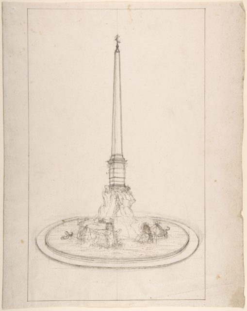Fountain with Obelisk