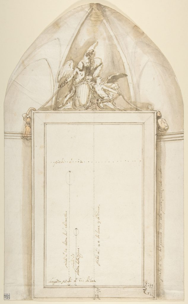 Frame for a Painting of Saint Christopher