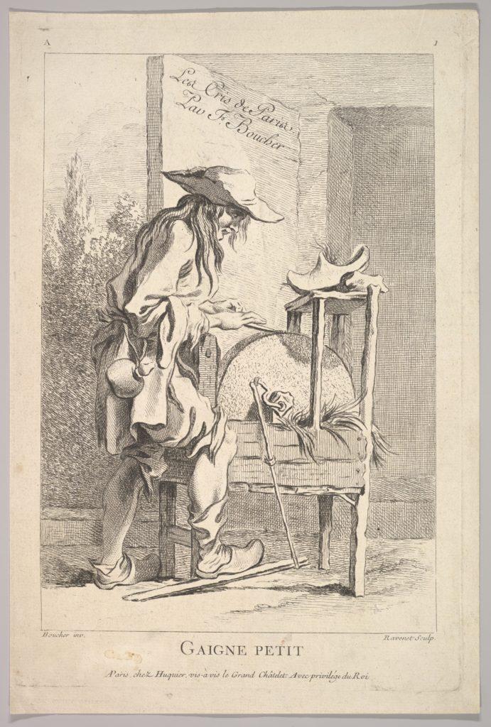 Frontispiece: Gaigne Petit, from Le Cris de Paris (The Cries of Paris), plate 1