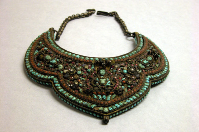 Gorget worn for initiation or for deity