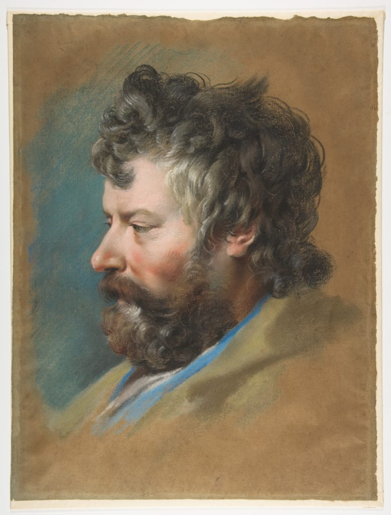 Head of a Bearded Man in Profile to Left