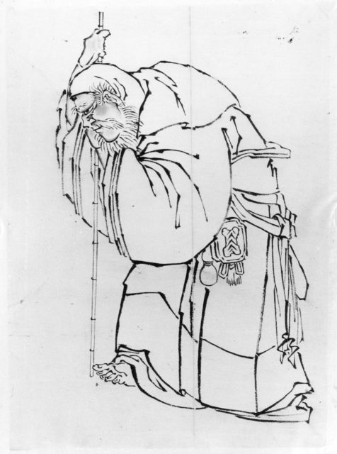 Hermit with a Staff