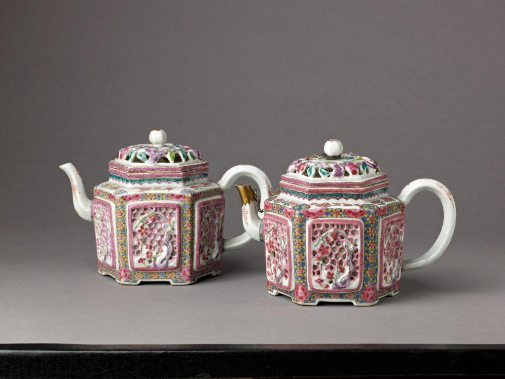 Hexagonal wine pot or teapot