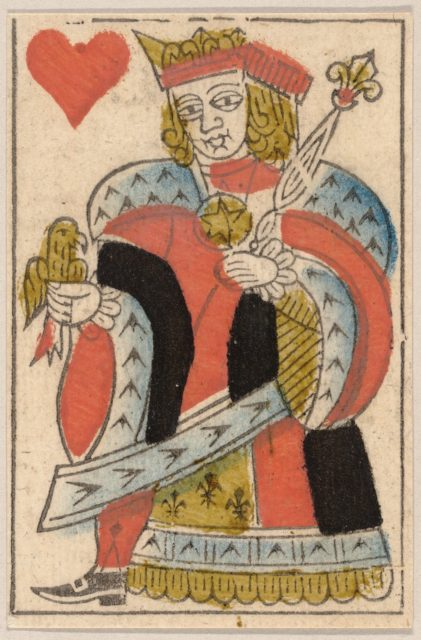 King of Hearts, from a Set of Piquet Cards