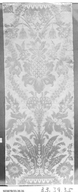 Length of furnishing velvet